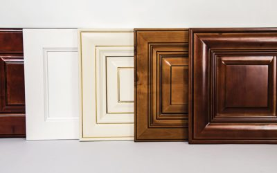 Set of luxury wood doors made of natural maple for home interior