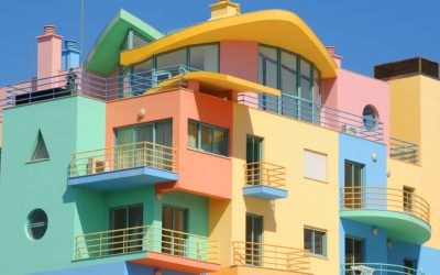 Colorful apartments in Albufeira, Portugal