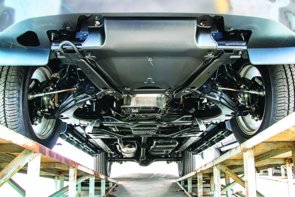Pickup Car chassis bottom view