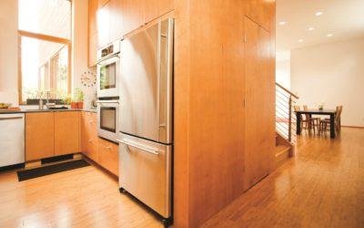 Modern Wood Panel Kitchen