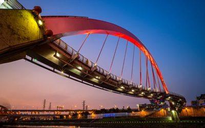skyline of Taipei with a beautiful bridge
