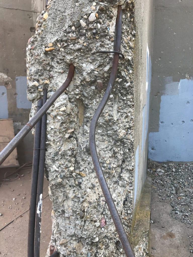 Repairing Vukovar rebar closeup