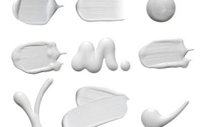 Smears of white cream