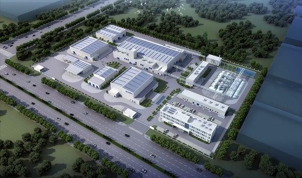 Hempel factory in Yantai Chemical Industrial Park, China