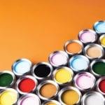 rainbow colored oil paint