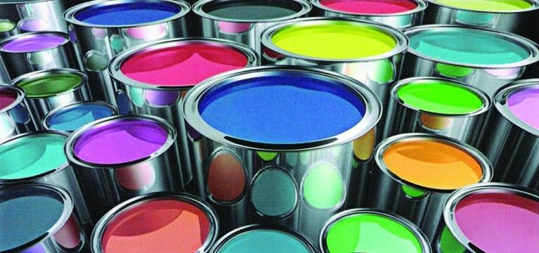 Open paint cans