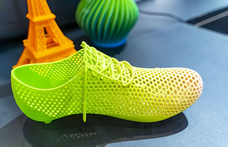 Picture of 3D-printed shoe