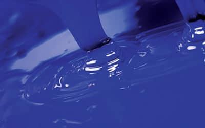 Blue silkscreen ink