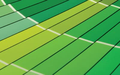 Close-up of Green Paint Color Chart Fan Deck
