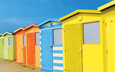 Sheds in different colors
