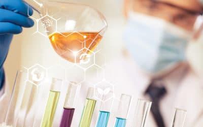 colorful lab testing equipment