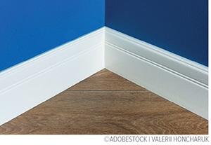 painted corner in room