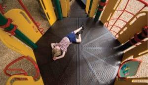 a child on playground merry-go-round